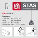 STAS minirail connector