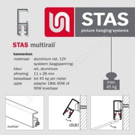 STAS Multirail Armatuur - Chroom
