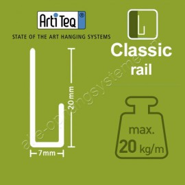 Artiteq stang 2mm wit U-Top