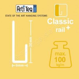 Artiteq J-Rail classic+ 200cm incl alle schroeven en pluggen