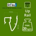 Artiteq Up Rail in wit primer
