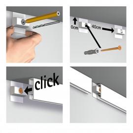 Click Rail Wit Overschilderbaar Budget Pakket - 9 meter