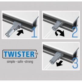 Artiteq 2mm Twister Stang in wit - 20kg