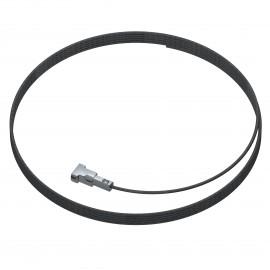 Artiteq 1,5mm Twister Staaldraad zwart 150cm