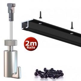 Artiteq Top Rail Set zwart 200cm - 20kg