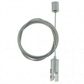 GeckoTeq Plafondnok Kabelsysteem met Zelfremmende klem 6 mm - 10kg