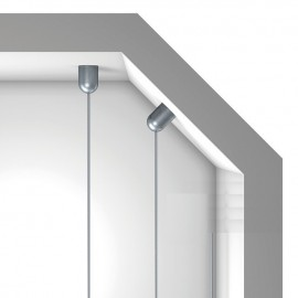 GeckoTeq Schroefbaar bol plafond anker voor 1 of 2 draden - 15kg