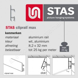 STAS cliprail max wit
